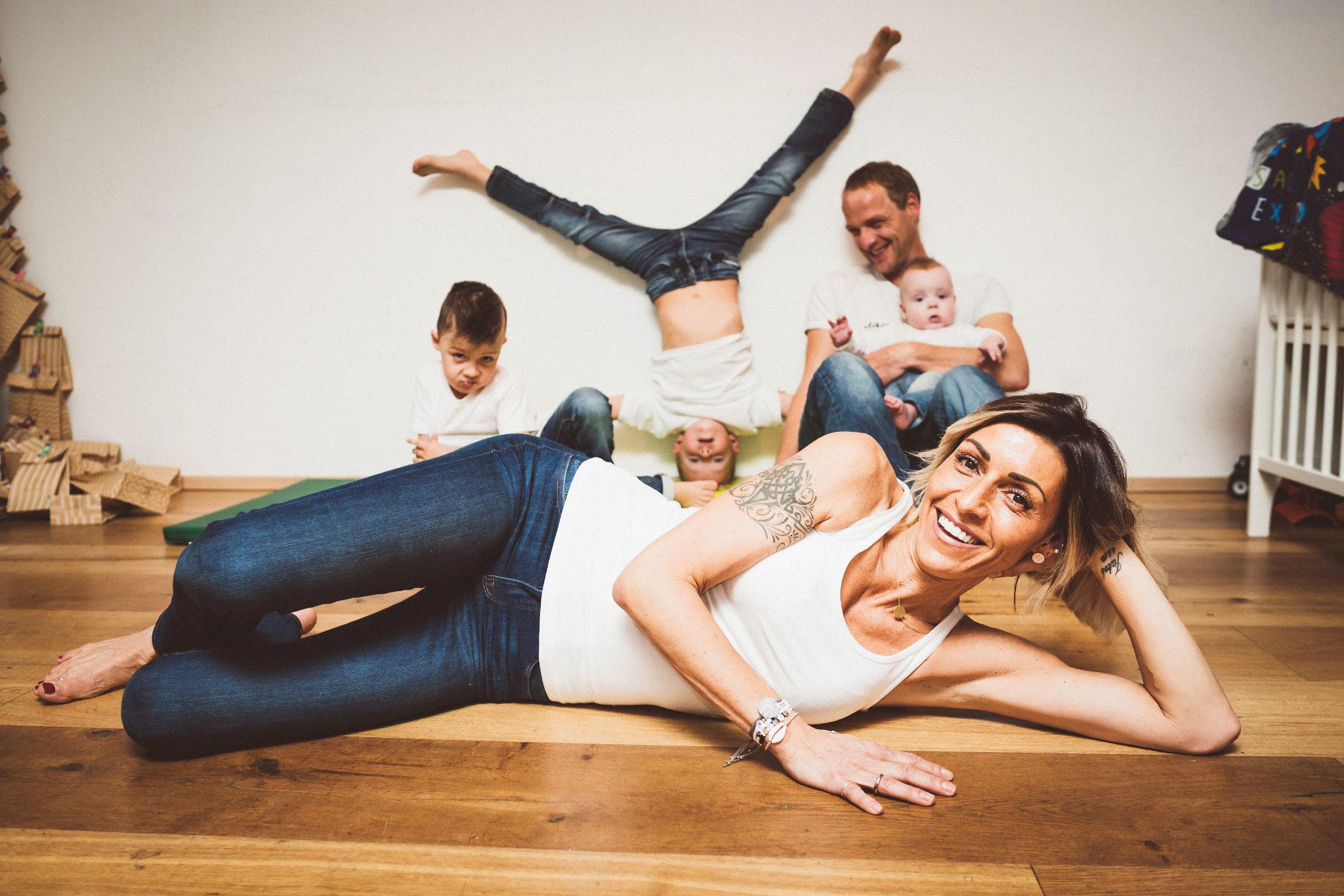 Familie Struber eine Dame und vier Männer