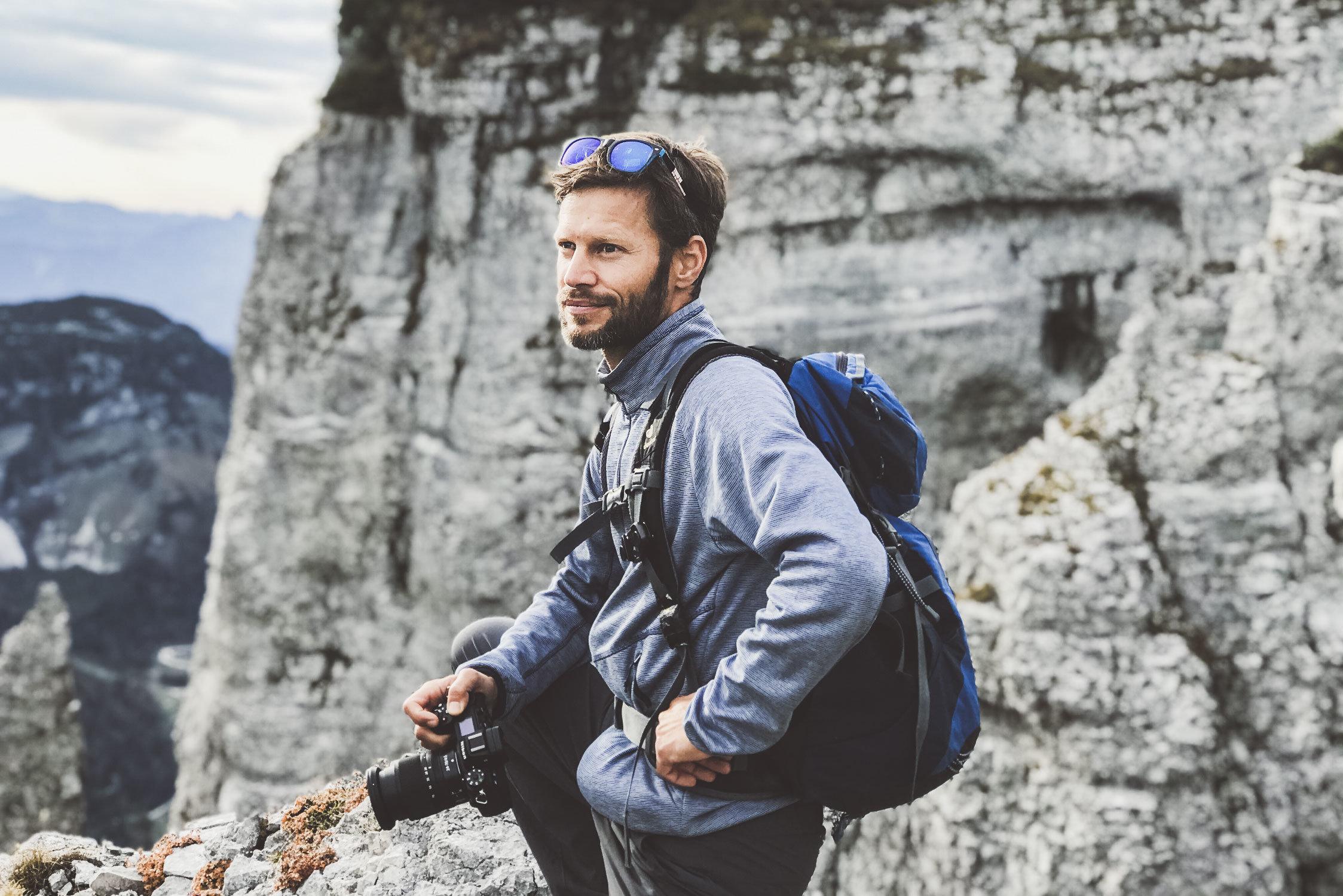 Fotograf Klaus Krumboeck am Loser in Altaussee